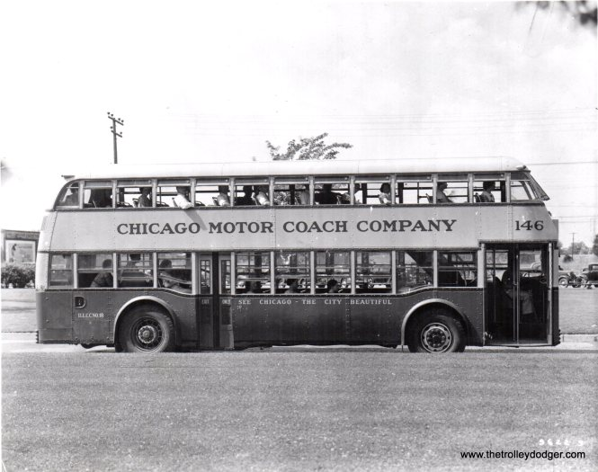 CMC double-decker 146 in the 1930s.