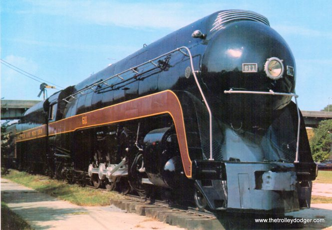 The famous Norfolk and Western Class J steam engine 611. Retired in 1959, and resurrected 21 years later, the 611 has three excursions planned for this April.