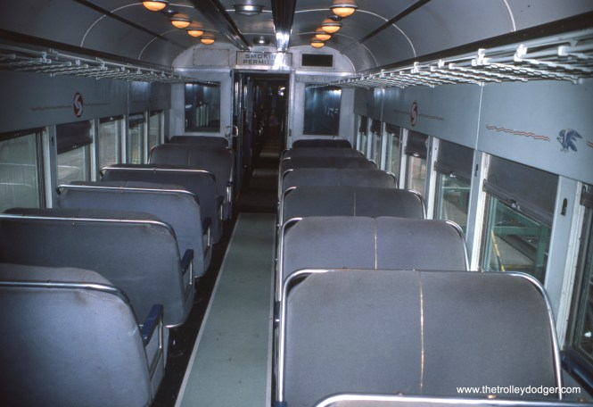 The interior of a Liberty Liner in May 1976.