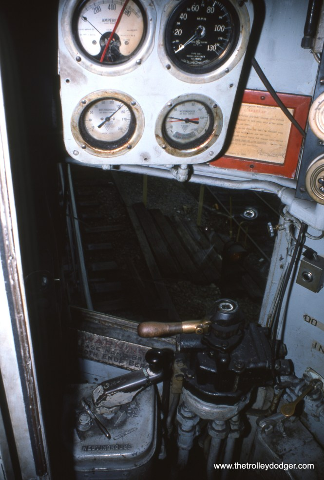 The control cab of one of the two Liberty Liners, as it looked in May 1976, near the end of service.