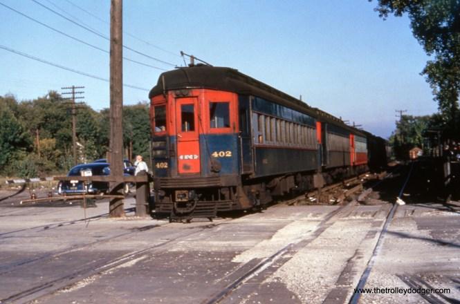CA&E 402 and train.