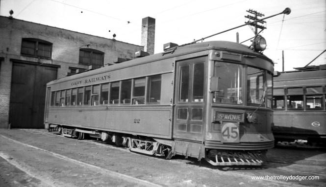 Gary Railways 22 on May 10, 1940.