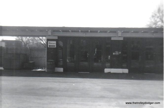 NSL Kenosha Station south end southbound platform 4-5-72