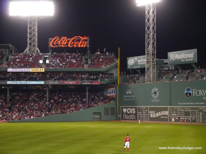 """Fenway is one of the most beloved ballparks in Major League Baseball, in part because of its 40-foot """"Green Monster"""" wall in left field."""