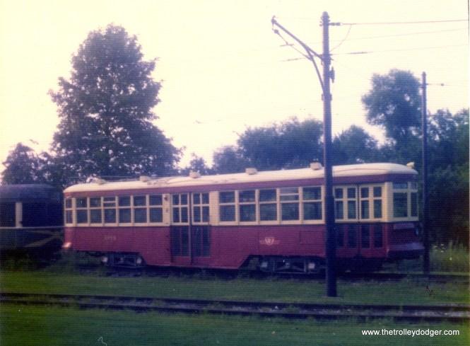 A Toronto Peter Witt at Trolleyville USA, Olmstead Falls, Ohio, on August 23, 1975.