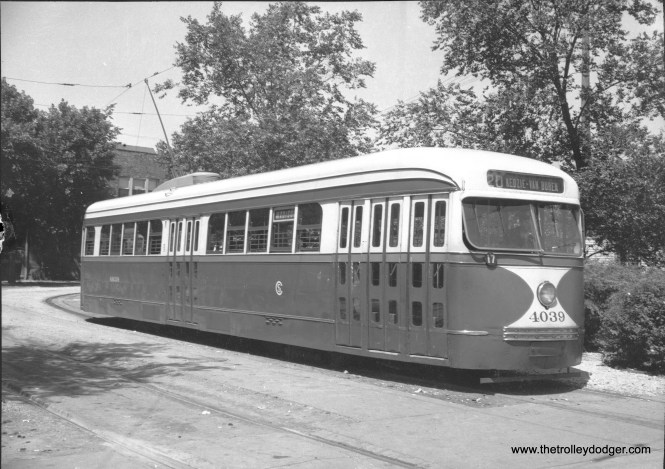 CSL 4039 at the Madison and Austin Loop in August 1941.