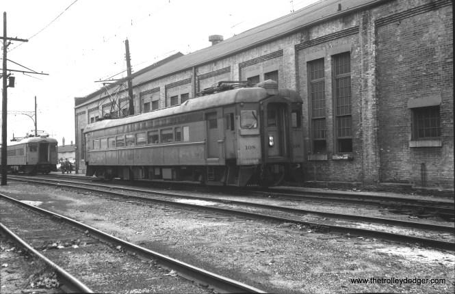 South Shore Line 108 in Michigan City.
