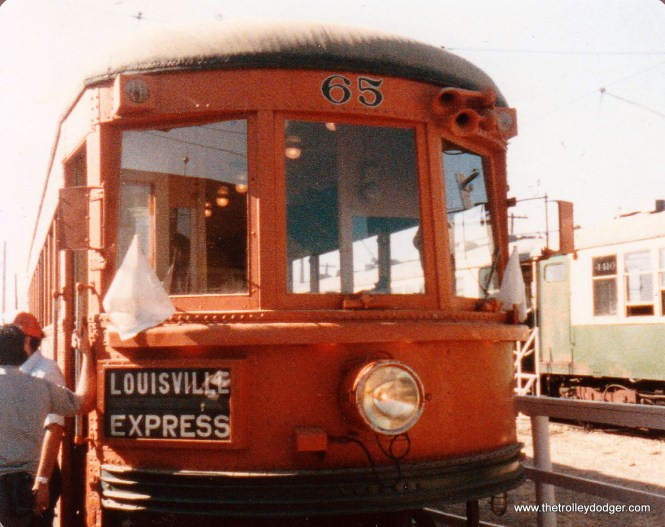 Indiana Railroad 65 at IRM in the 1980s or 90s.