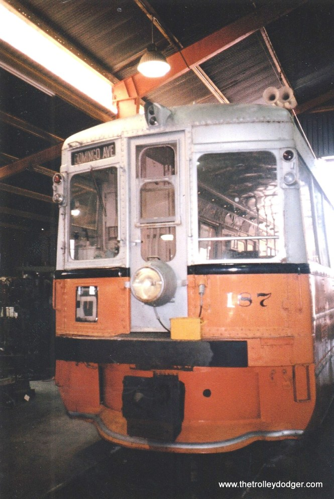 Key System 187 at the Western Railway Museum in 2000.
