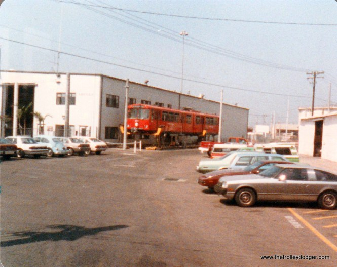 The maintenance facility on the line to San Ysidro.