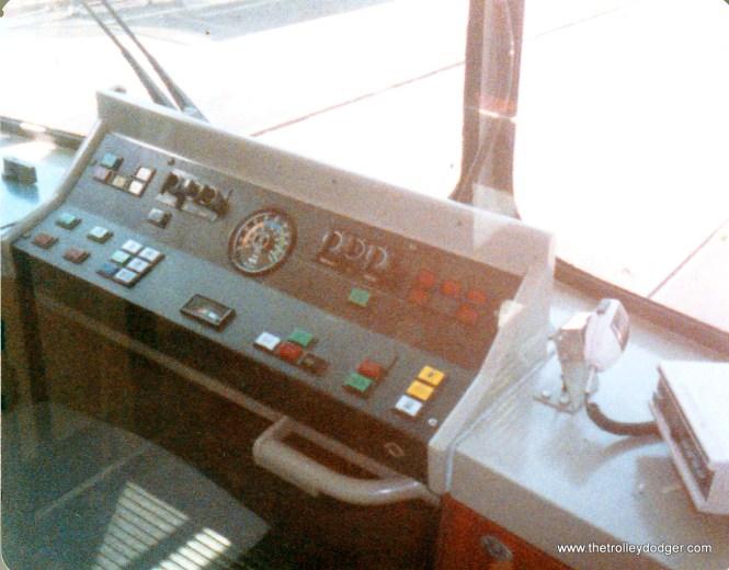 No controller, no brake handle - computerized push-button control.