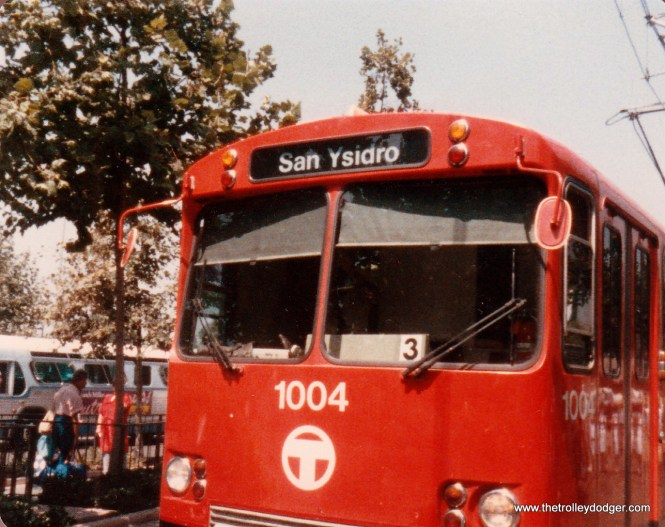 Trains bound for the Mexican border had a San Ysidro destination sign.