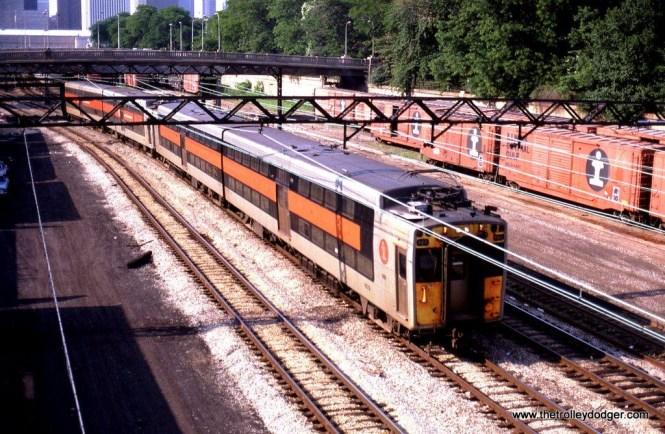 RTA/ ICG Highliner #407 near the Randolph Street Terminal, Chicago, IL. 6-23-82.