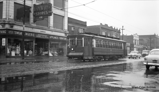 CTA Pullman 377, also at 63rd and Paulina. (Robert Selle Photo, Wien-Criss Archive)