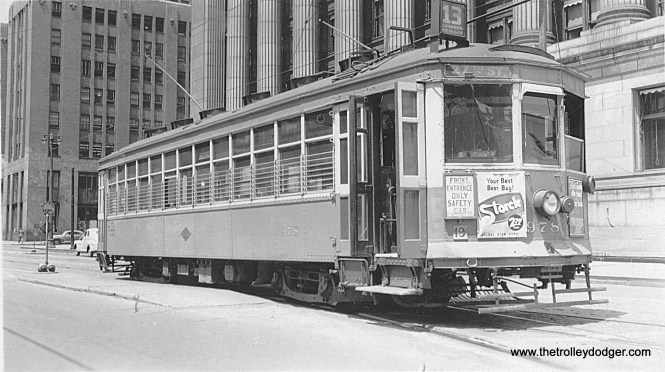 TM 978 on Rt. 13 on Clybourn near Cass and Michigan Streets. (Herb Danneman collection)