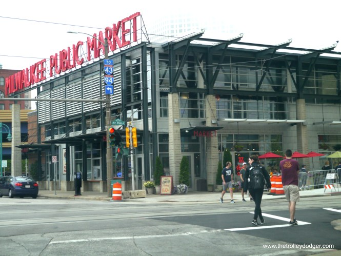 The streetcar will serve Milwaukee's busy Public Market in the historic Third Ward.