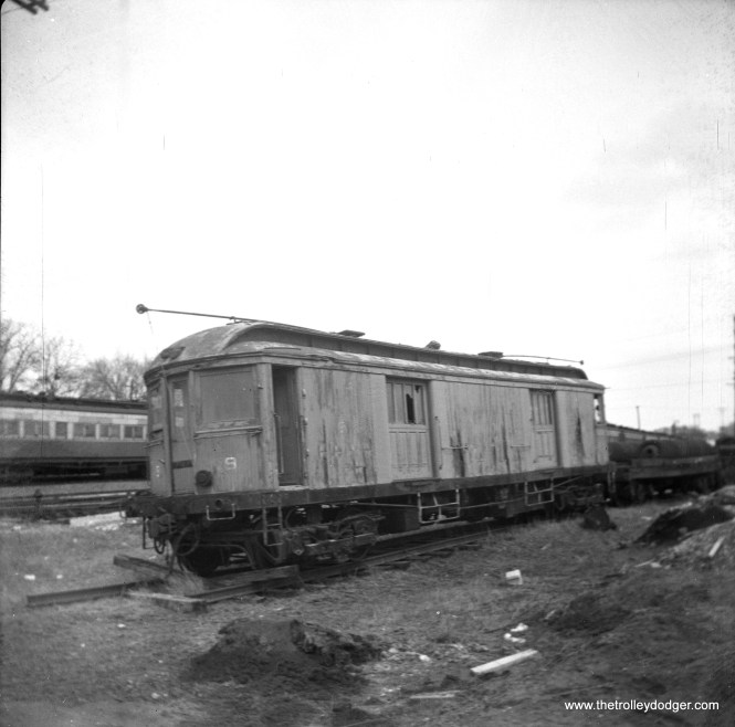 """CA&E wooden freight motor 9. Don's Rail Photos: """"9 was built by Niles Car in 1907. It was scrapped in 1959."""""""