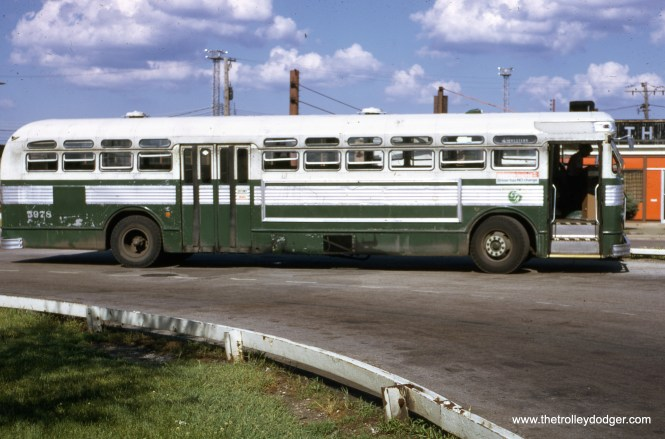 CTA 5978 is at the Western and 79th loop on June 20, 1973. (Ronald J. Sullivan Photo)