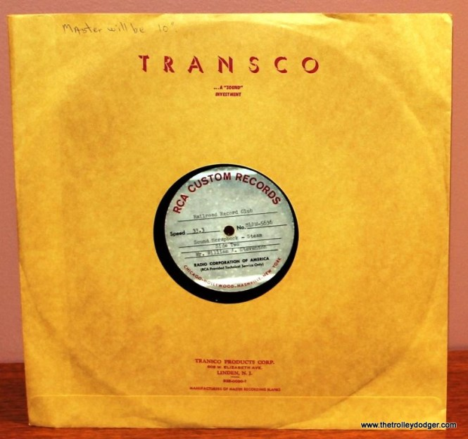 3 RCA test pressing for Sound Scrapbook Steam showing notation on upper left of sleeve