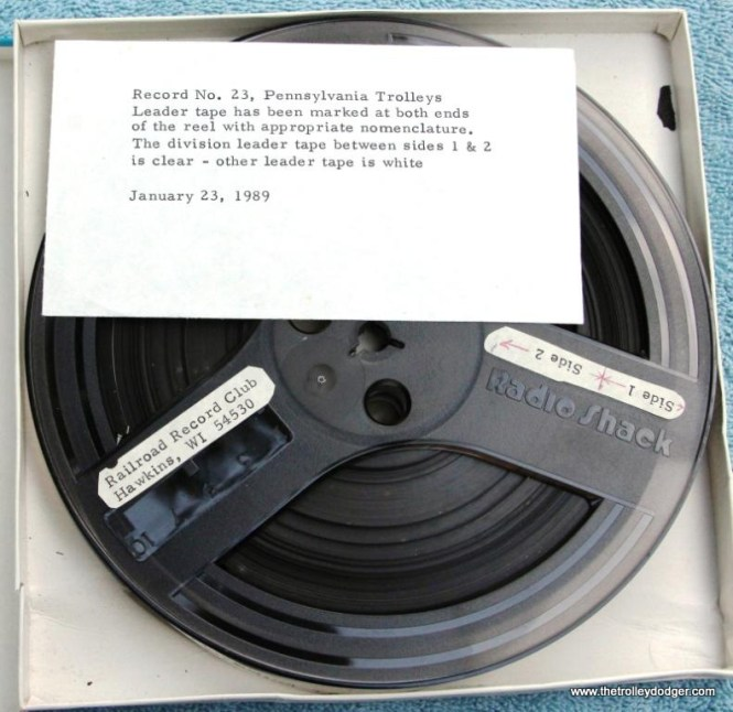 35 master tape Railroad Record Club number 23 with memo