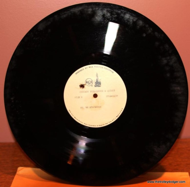 4 RCA test pressing for Illinois Terminal one of only 3 good discs