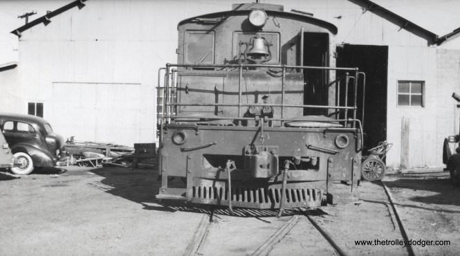 Unidentified steeple cab locomotive