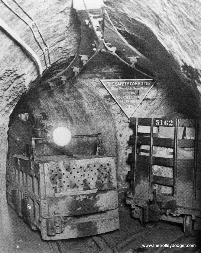 The freight tunnels used electric locomotives and overhead power.