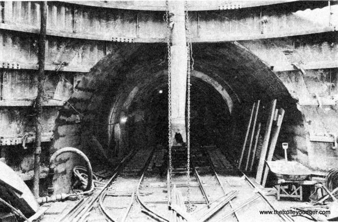 Early subway construction.
