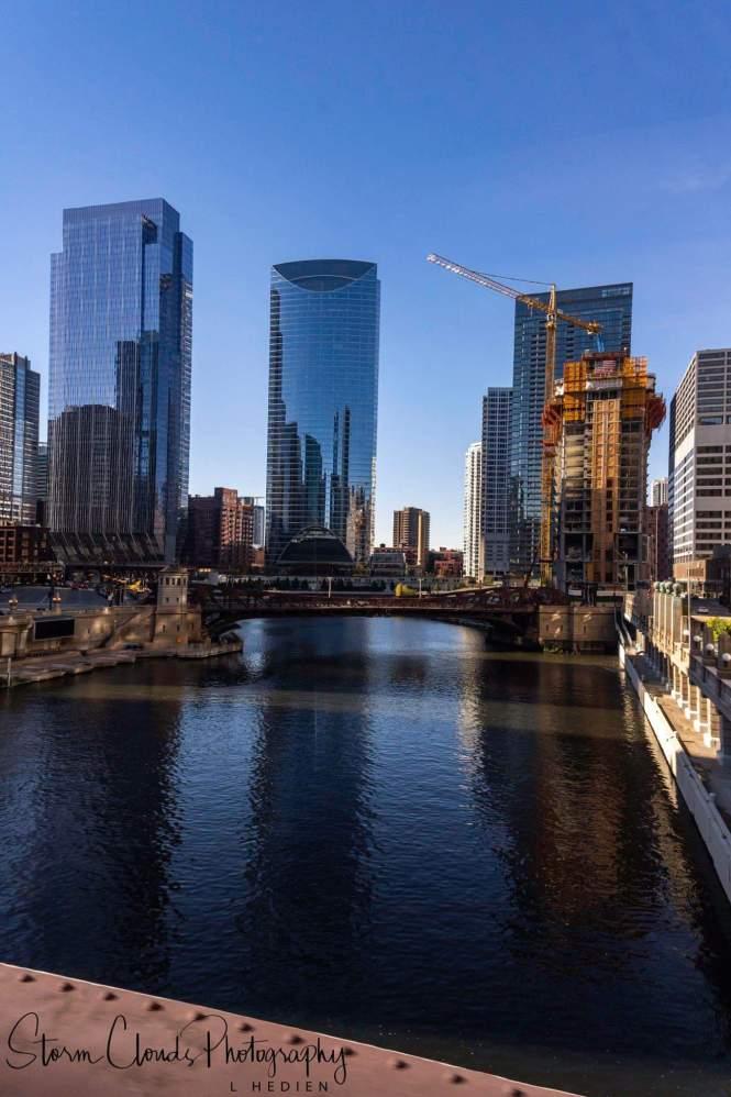 -Chicago River on the L bridge