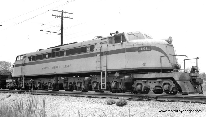 Loco #802 at Fremont, Indiana in June 1956. (Will Whittaker Photo)