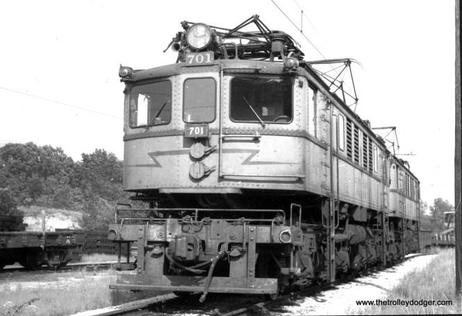 Loco #701 at Michigan City on August 22, 1968. (Gordon E. Lloyd Photo)