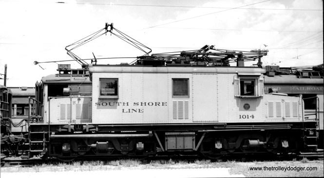 Loco #1014 at Michigan City. (C. V. Hess Photo)