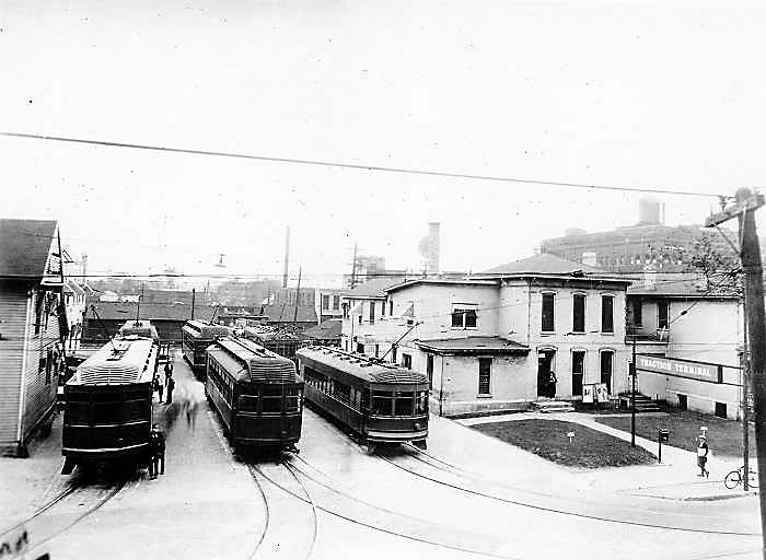 The Indiana Railroad passenger terminal in Fort Wayne. (Howard Pletcher Collection)