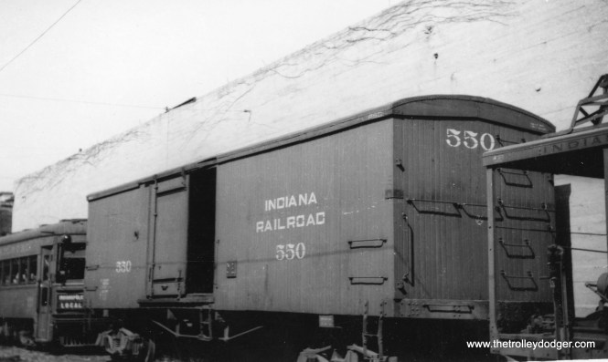 Indiana Railroad box car #550.