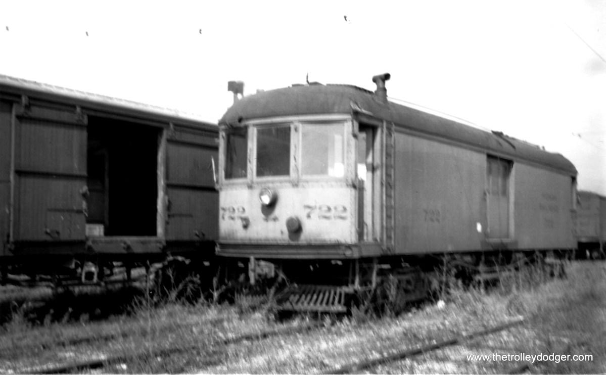 Indiana Railroad box motor #722.