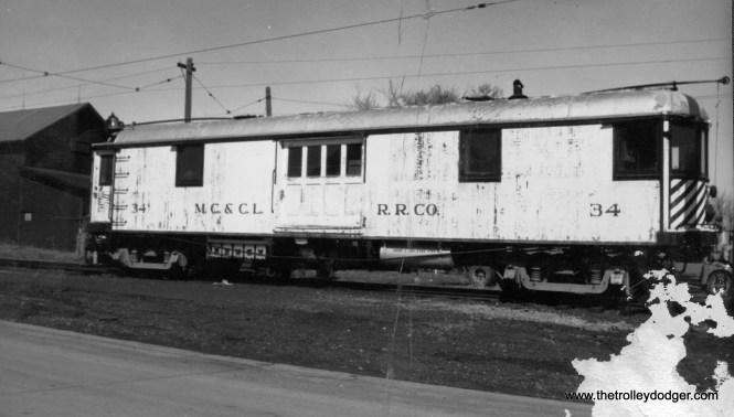 Mason City and Clear Lake car #34 (unrestored photo).