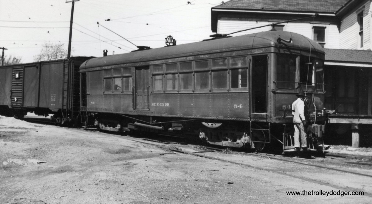 Does ST F Co RR stand for Santa Fe? At any rate, this is car #54 at Farmington, MO.