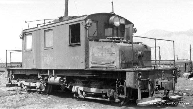 Utah Idaho Central #905 in June 1945.