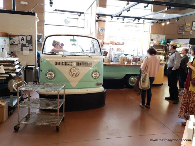 One vendor at the Public Market has re-purposed a VW bus.