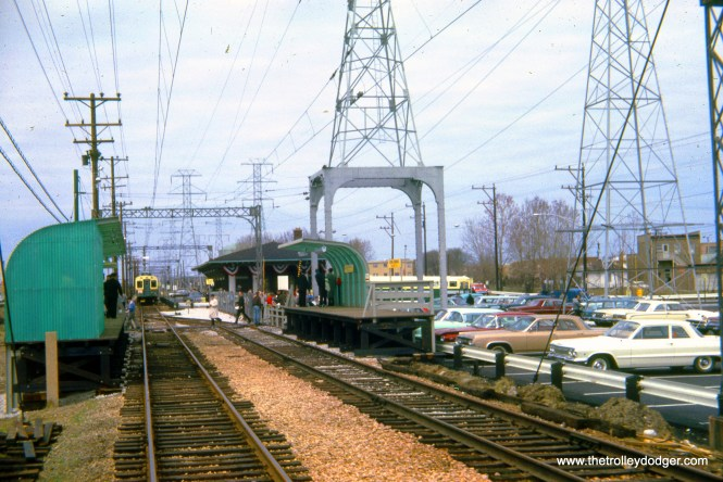 This picture of the Dempster terminal is dated April 18, 1964, which would have been the very first day people could ride the Skokie Swift.
