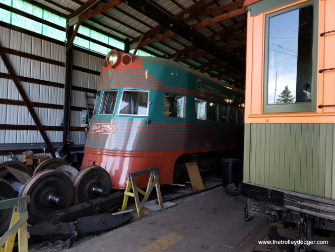IRM's North Shore Line Electroliner is in the process of being restored.