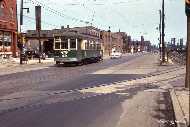 CTA 1765 at Cermak and Loomis on May 9, 1954.