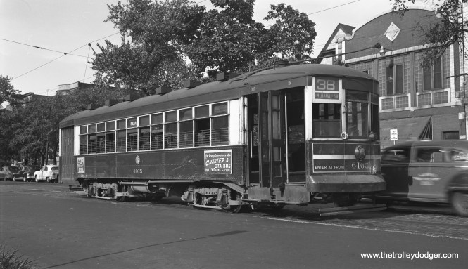 CTA 6165 is at 51st and Indiana Avenue on August 18, 1952, in this photo by Bob Selle.