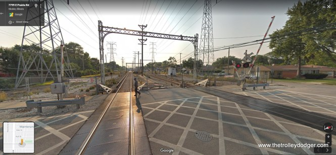 The same location today, as part of the CTA Yellow Line.