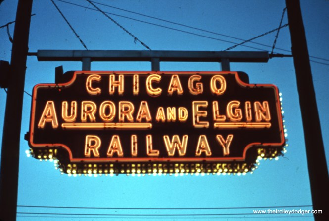 I am not sure of its original location, seen here, but there is a sign just like this at the Illinois Railway Museum now.