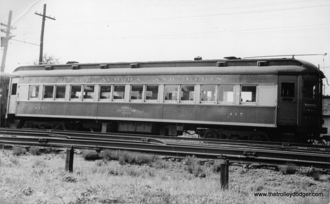 CA&E car 417, built by Pullman in 1923.