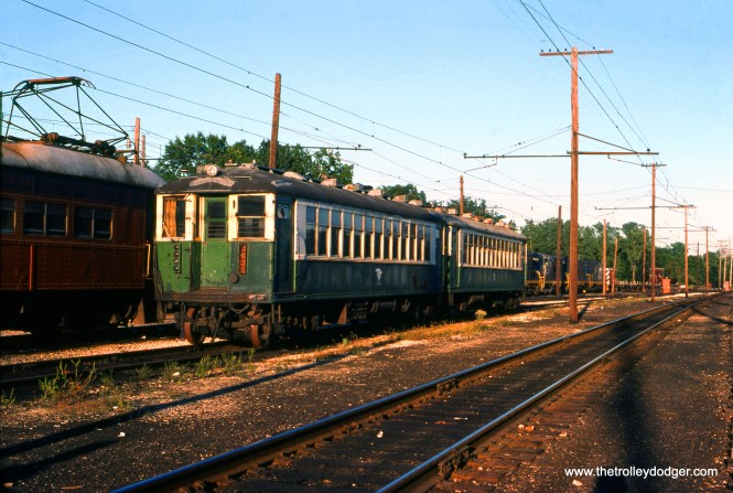 Those CTA 4000s sure did get around! Here we see a pair at the South Shore Line's yard in Michigan City, Indiana in September 1976, surely on their way to a railway museum. (Mark Llanuza Photo)