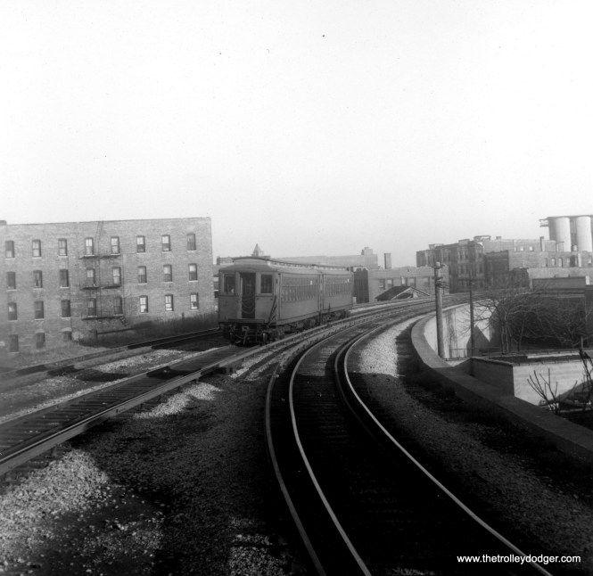 The Kenwood branch was mainly on an embankment owned by the Chicago Junction Railway.