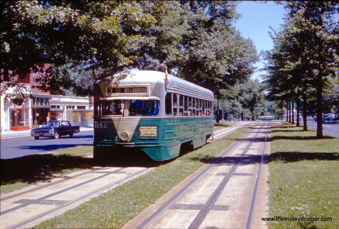 This and the following picture show DC Transit pre-PCC 1053 in June 1961. n This historic car survived for many years before being destroyed in a museum fire. (Charles L. Tauscher Photos)