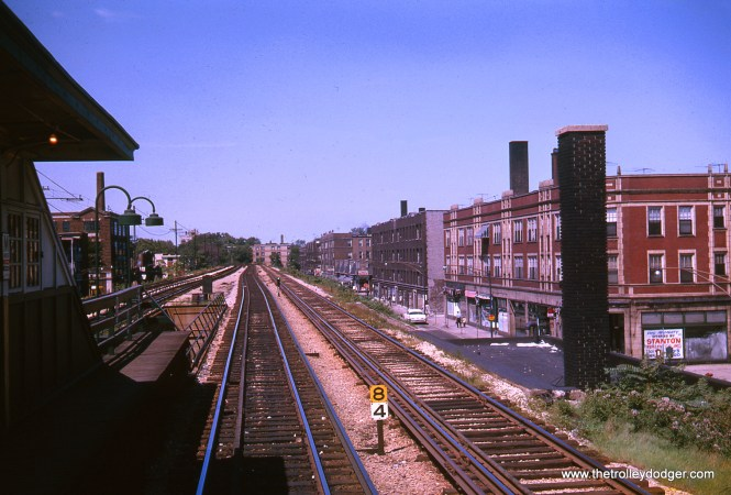 Morse, looking north, in August 1963. The old No Exit Cafe, a Beatnik coffehouse established in 1958, was located not far from here, starting in 1967.